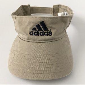 Adidas Beige Navy Embroidery Adjustable Visor